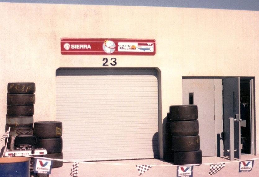 1989 Indy 500 garage for car 81