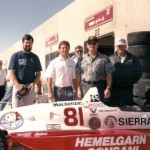 Dale Carlson, Billy Vukovich III & Jim Wallsnext to car 81