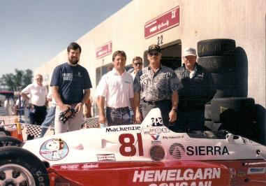 Dale Carlson, Billy Vukovich III & Jim Wallsnext to car 81