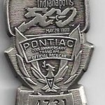Pit pass 1989 Indy 500